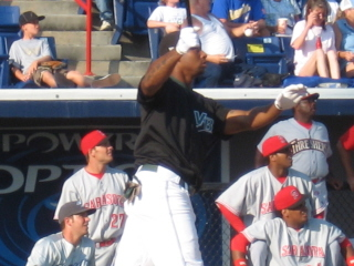 Lil JT Hall and the West players watch another ball sail out of the park in the FSL HRD.jpg